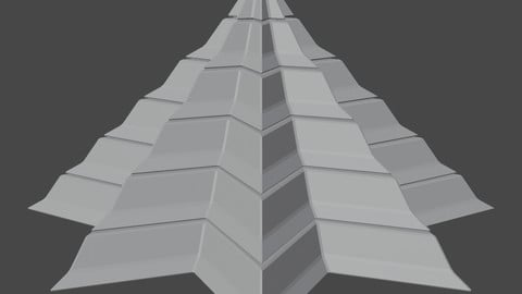 Pyramidal Structure 8 Corners Interstices Beveled and Angles