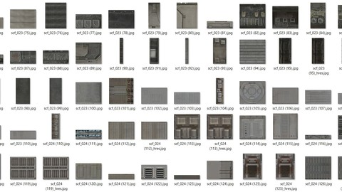 sci-fi texture patches pack 003