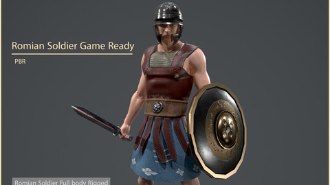 Roman Soldier Game Ready