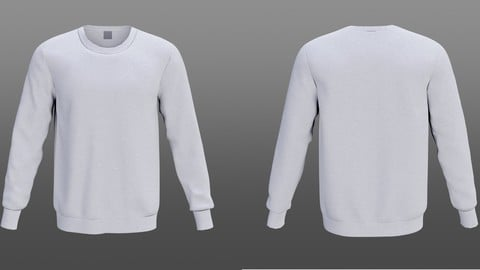 white sweatshirt 3D model