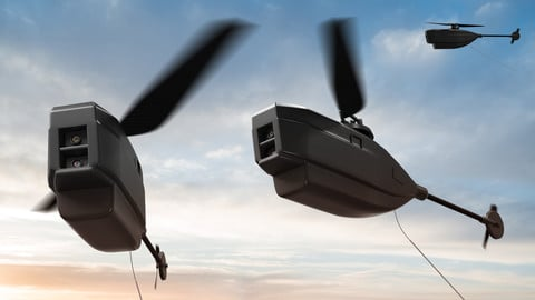 3D Render Black Hornet 2 PRS PD 100 Nano UAV Micro Drone 3D model