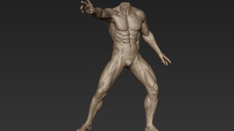 Male Full Body Sculpt Pose 2