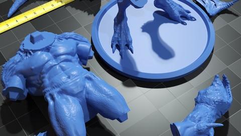 The human reptile 3D print model