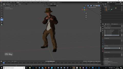 Indiana Jones game ready character