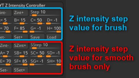 Z Intensity Controller (Zbrush Plugin)