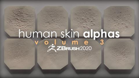 Human Skin Alphas vol. 3 + Render Scene