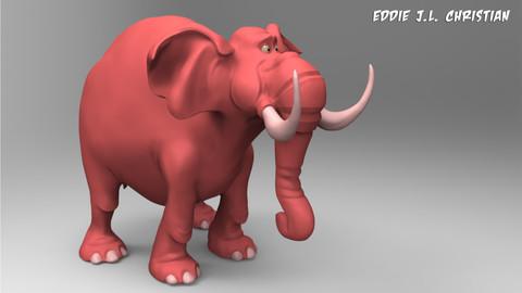 Toon Elephant (3D PRINT)