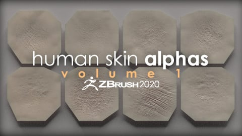 Human Skin Alphas vol. 1 + Render Scene