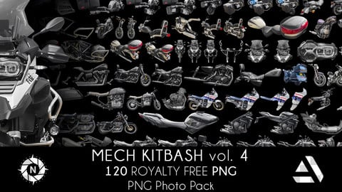 PNG Photo Pack: Mech Kitbash volume 4