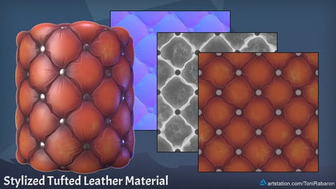 Stylized Tufted Leather Material