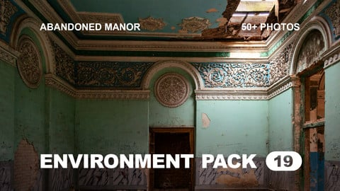 Env Pack 19 / Abandoned manor of the Victorian period / Reference pack