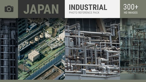 JAPAN Industrial Photo Reference Pack
