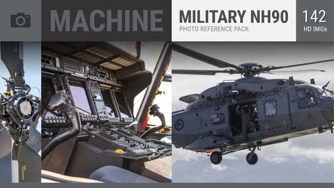 MACHINE Military Aircraft NH90 + C-130 Photo Reference Pack