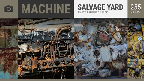 MACHINE Salvage Yard Photo Reference Pack