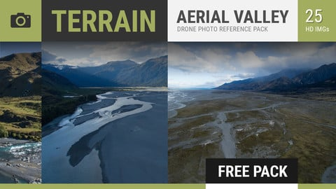 AERIAL LANDSCAPES Photo Reference Pack