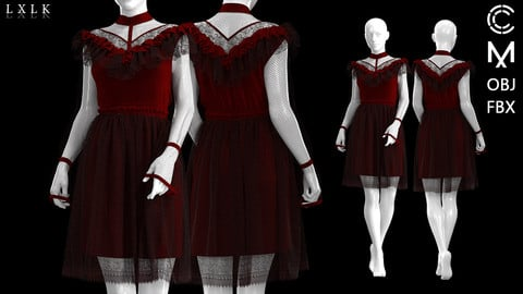 Women's Vintage Gothic Dress(Short ver)
