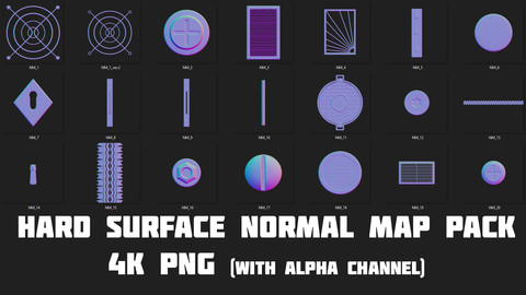 Hard surface Normal map Pack