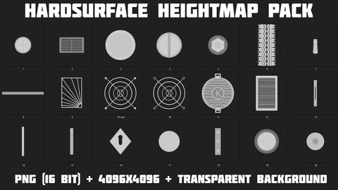 Hardsurface Heightmap Pack