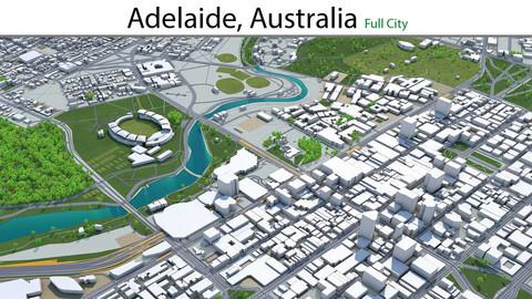 Adelaide City Australia 3D Model 65km