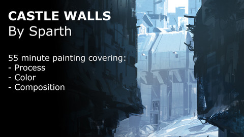 55 minute painting - Castle Walls