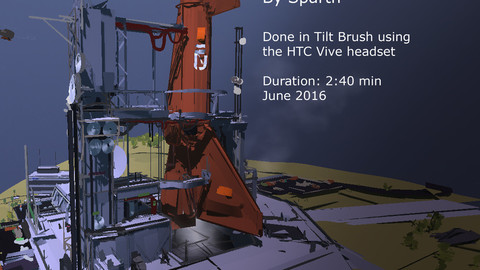 Space Center concept - Tilt Brush video and Tilt file