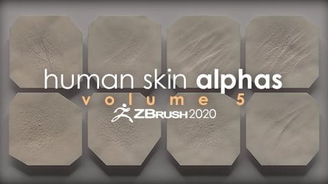 Human Skin Alphas vol. 5 + Render Scene