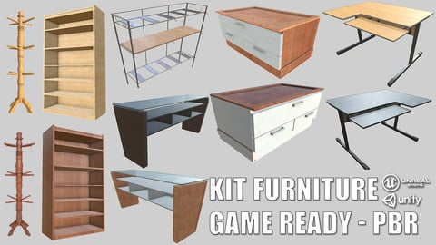 PBR Furniture Pack Game-Ready