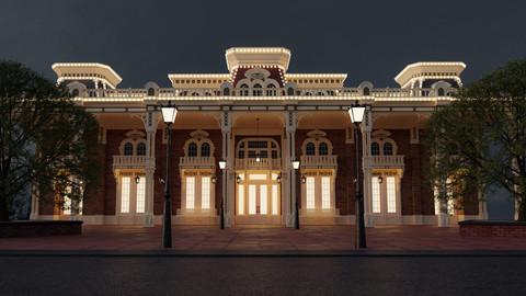 "Disney's Magic Kingdom ""Town Square Theater"" @Night in 4K"
