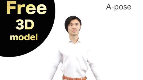 Free 3D model A-Pose – 068_Syun
