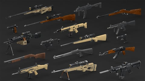 WEAPONS PACK model and PBR textures