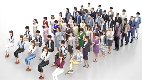Posed 3D-people 10-SET -002