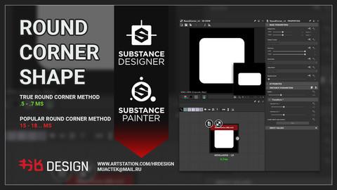 Round Corner Shape Generator (substance designer, substance painter)