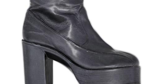 Vintage Boot Black Leather