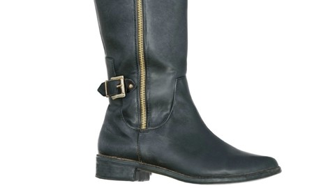 Vintage Boot Tall Black
