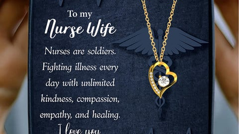 ShineOn Message Card Design - Husband to Nurse Wife