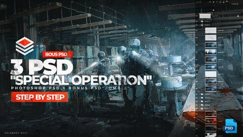 "3 PSD ""Special Operation"" for movie frame."