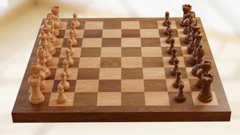 Chess Set 3d Model (Blender)