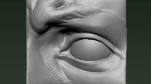 Michelangelo david's Eye 3D