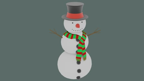 Snowman in Blender and other formats