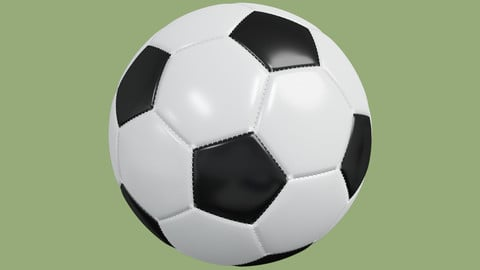 Soccer ball in Blender and other formats
