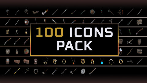 100 ICONS PACK (PNG)