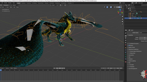 Dragon Low Poly Rigged and Animation ready Low-poly 3d  Toon Shaded model
