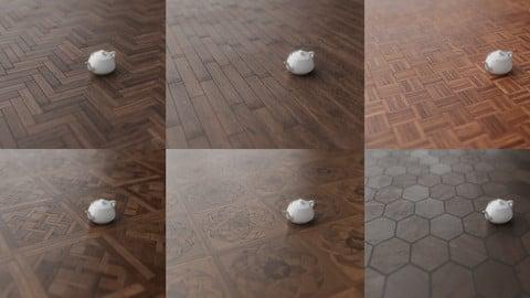 6 Floor Patterns + 2 Bonus Wood Walls | 8k - 4k