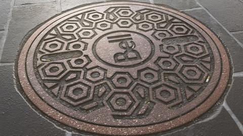 Fully procedural manhole | 4K