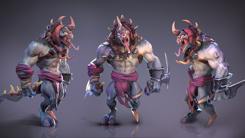 Sarbor - stylized lowpoly game ready character