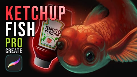 Ketchup Fish Source Files (Procreate & Photshop Files + More)