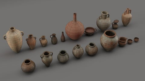 Clay Pots and Jugs Collection