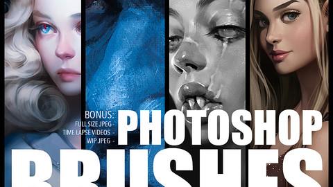 4 Photoshop brush packs
