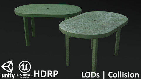 Garden Plastic Table Green - 3 Versions