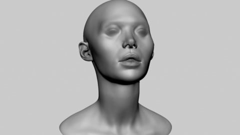 Base Female Head 06